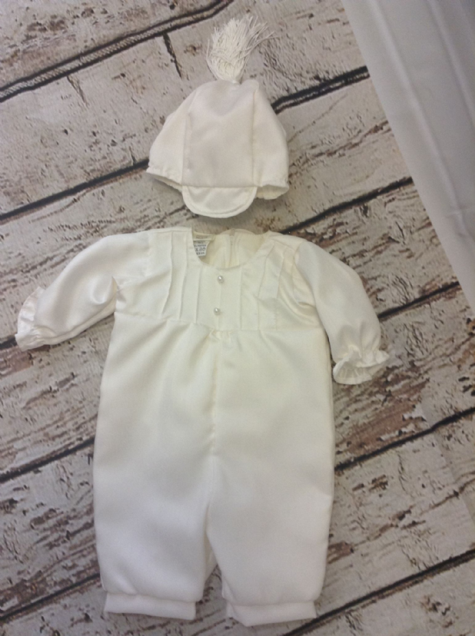 Ivory romper with buttons